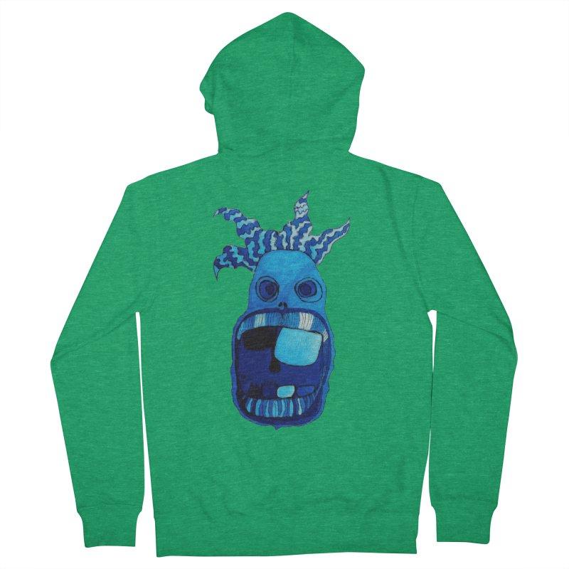 BLUE WALLY!  Women's Zip-Up Hoody by Baston's T-Shirt Emporium!