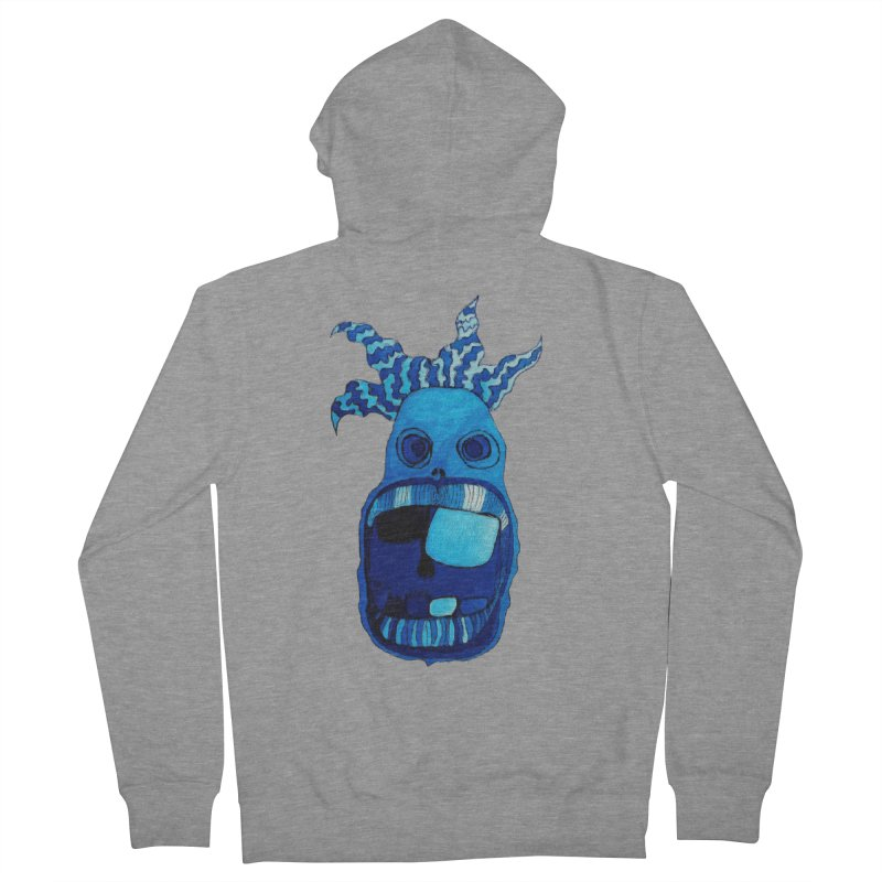 BLUE WALLY!  Men's Zip-Up Hoody by Baston's T-Shirt Emporium!