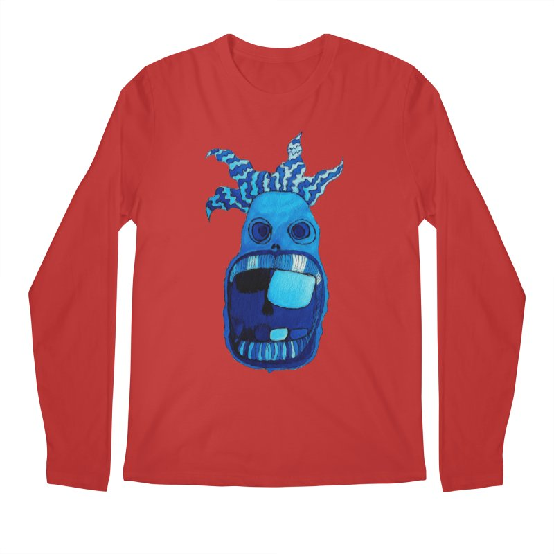 BLUE WALLY!  Men's Longsleeve T-Shirt by Baston's T-Shirt Emporium!