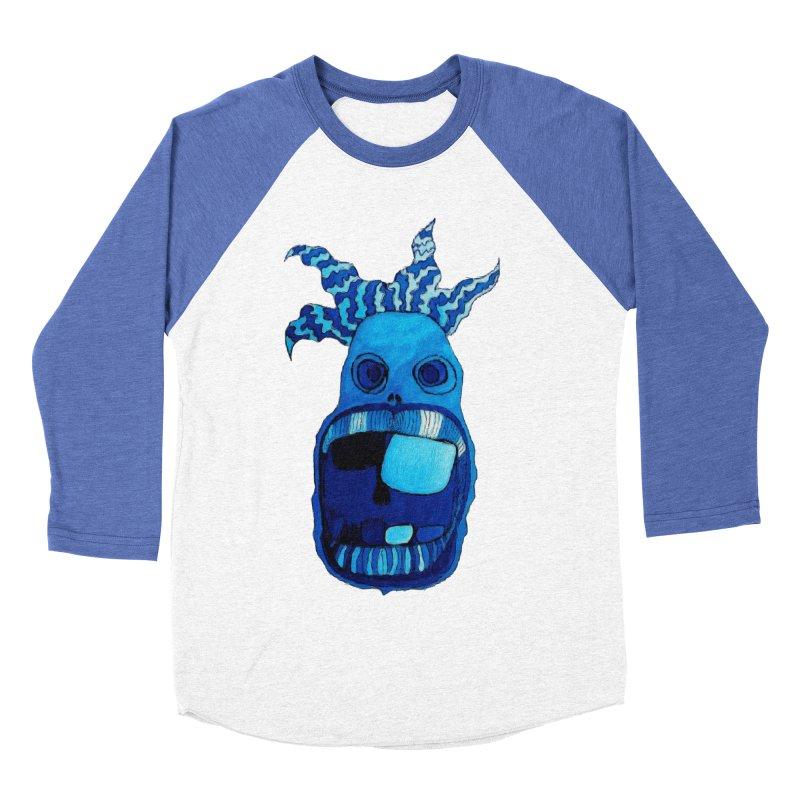 BLUE WALLY!  Women's Baseball Triblend T-Shirt by Baston's T-Shirt Emporium!