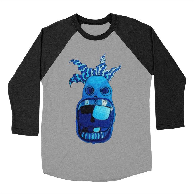 BLUE WALLY!  Men's Baseball Triblend T-Shirt by Baston's T-Shirt Emporium!