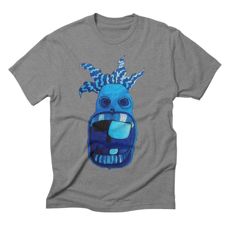 BLUE WALLY!  Men's Triblend T-shirt by Baston's T-Shirt Emporium!
