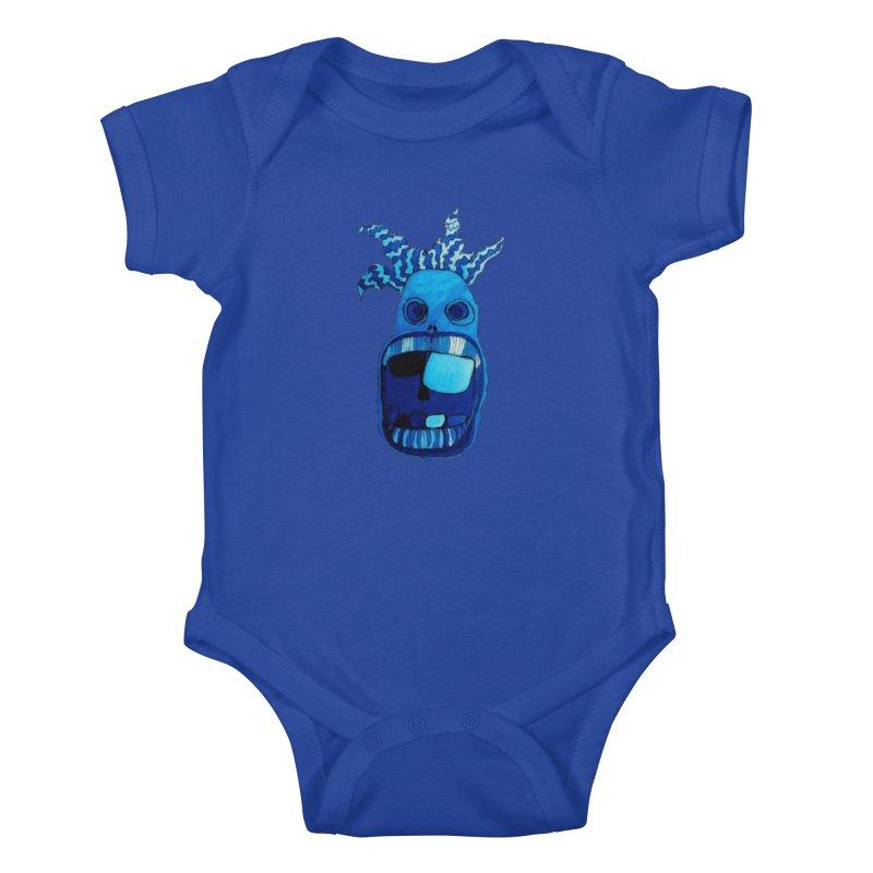 BLUE WALLY!  Kids Baby Bodysuit by Baston's T-Shirt Emporium!