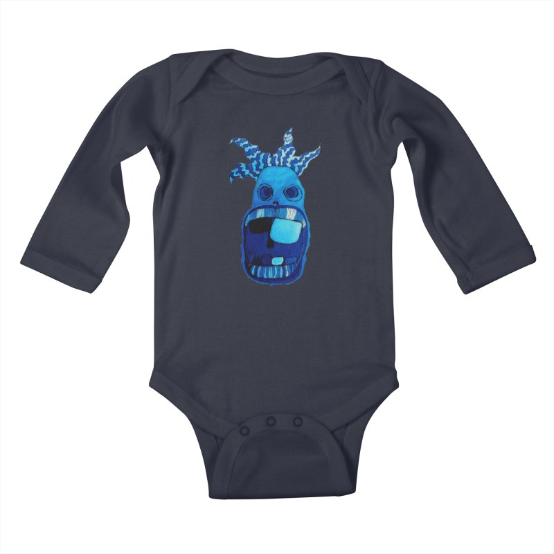 BLUE WALLY!  Kids Baby Longsleeve Bodysuit by Baston's T-Shirt Emporium!