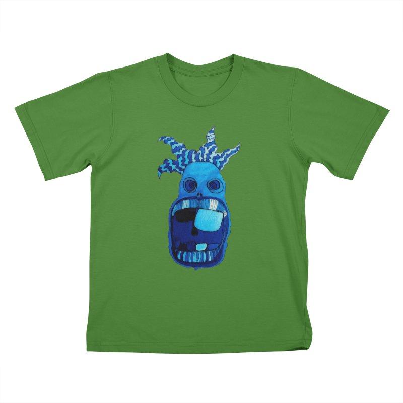 BLUE WALLY!  Kids T-shirt by Baston's T-Shirt Emporium!