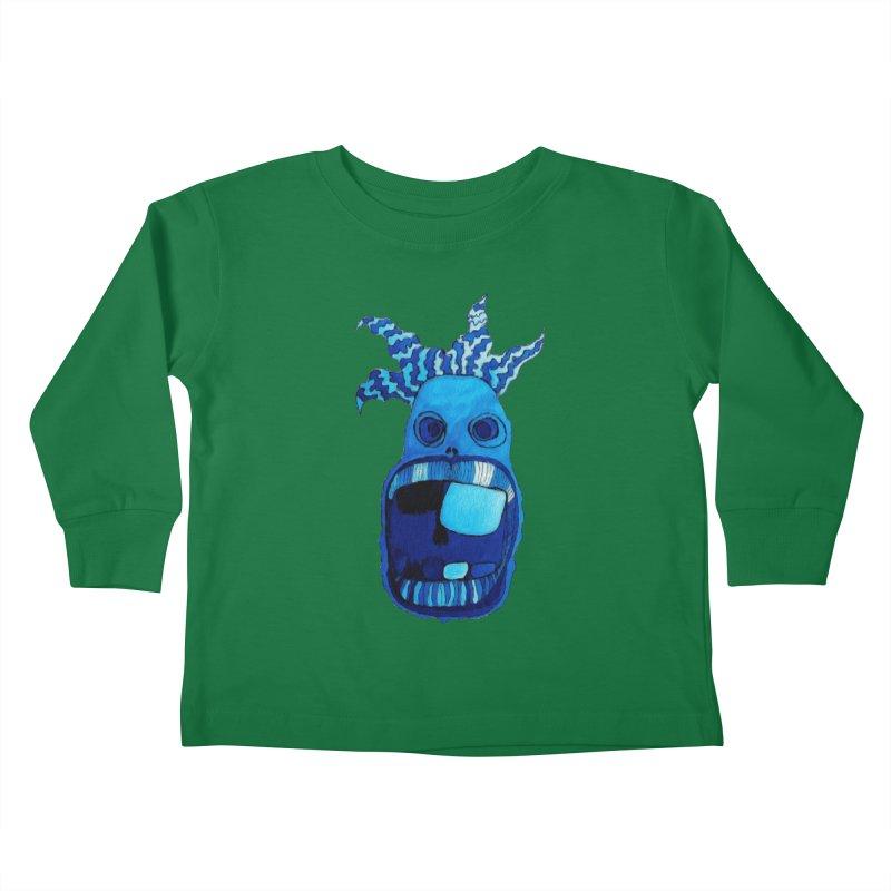 BLUE WALLY!  Kids Toddler Longsleeve T-Shirt by Baston's T-Shirt Emporium!