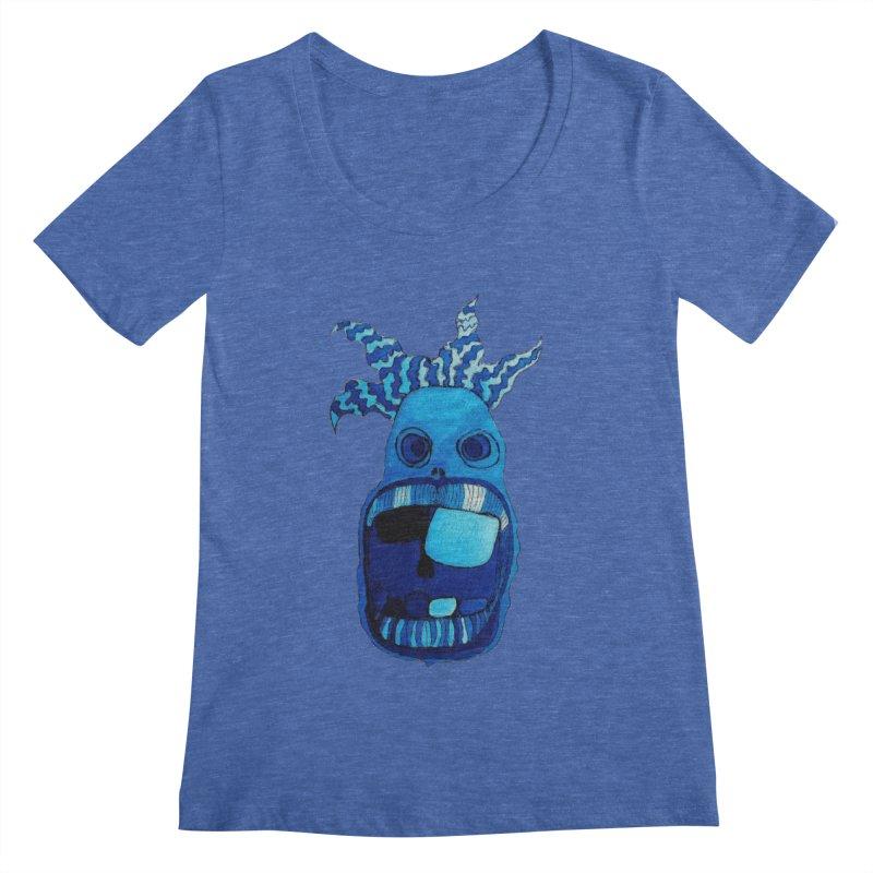 BLUE WALLY!  Women's Scoopneck by Baston's T-Shirt Emporium!