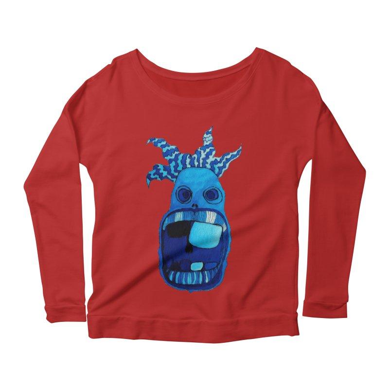 BLUE WALLY!  Women's Longsleeve Scoopneck  by Baston's T-Shirt Emporium!