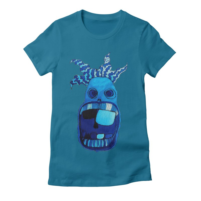 BLUE WALLY!  Women's Fitted T-Shirt by Baston's T-Shirt Emporium!
