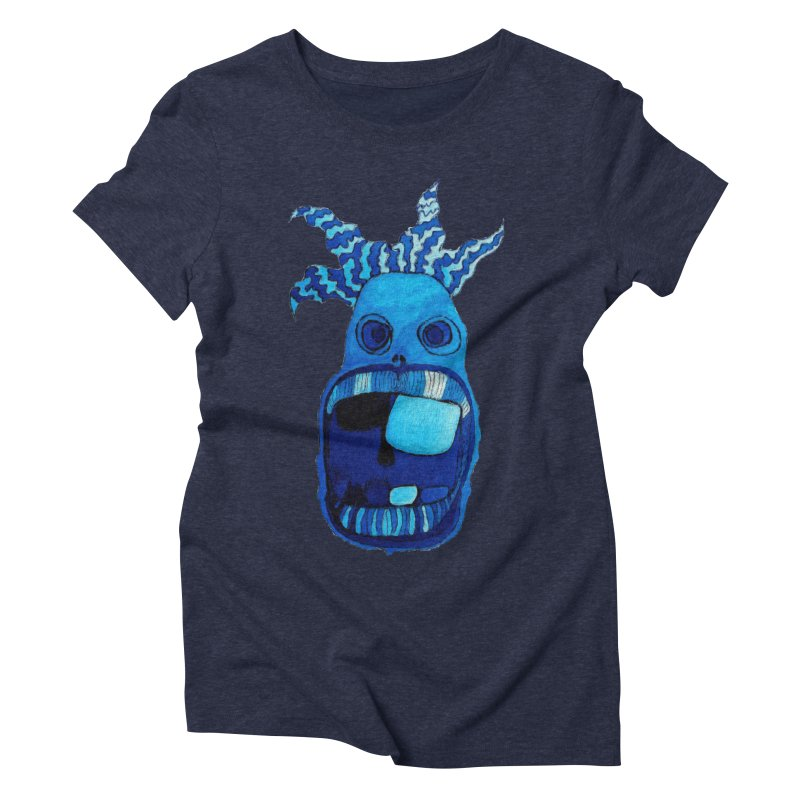 BLUE WALLY!  Women's Triblend T-shirt by Baston's T-Shirt Emporium!