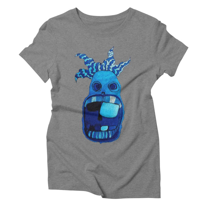 BLUE WALLY!  Women's Triblend T-shirt by Baston's T-Shirt Emporium!
