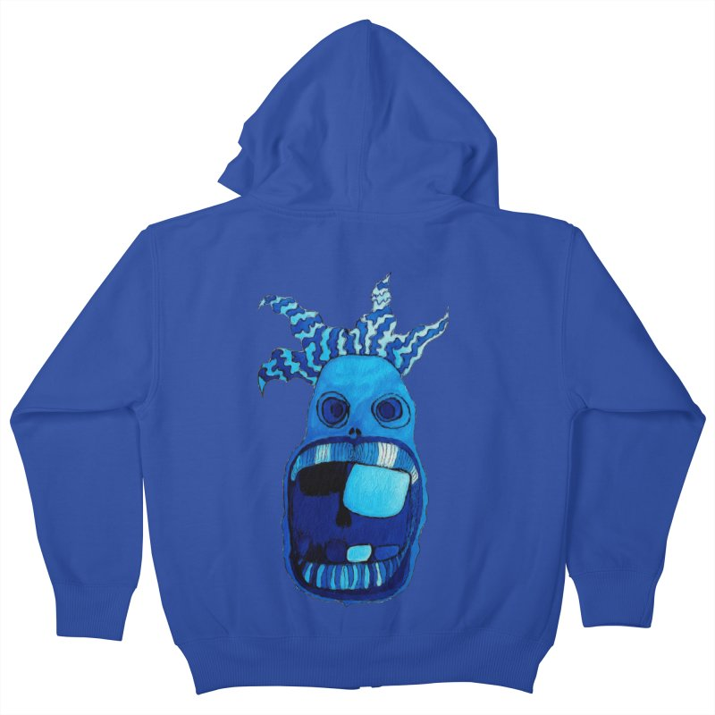 BLUE WALLY!  Kids Zip-Up Hoody by Baston's T-Shirt Emporium!