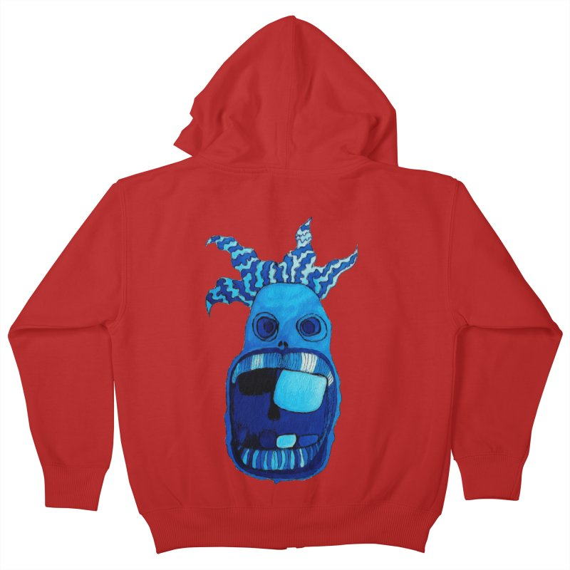 BLUE WALLY!  Kids Zip-Up Hoody by Baston's T-Shirt Emporium!