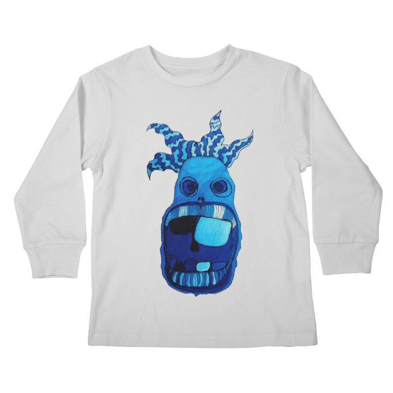 BLUE WALLY!  Kids Longsleeve T-Shirt by Baston's T-Shirt Emporium!
