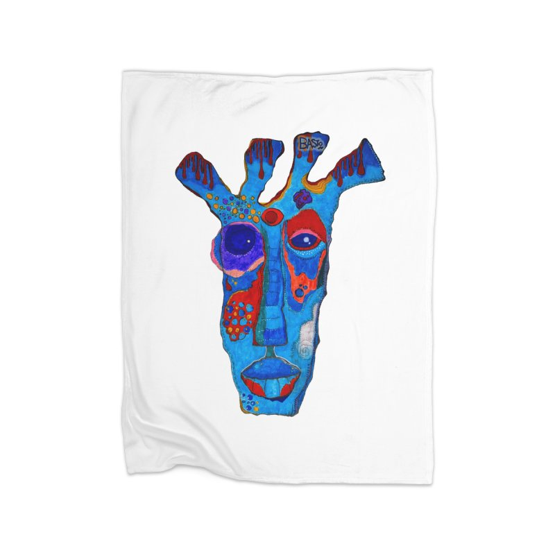 Shamanic Blues Home Fleece Blanket Blanket by Baston's T-Shirt Emporium!