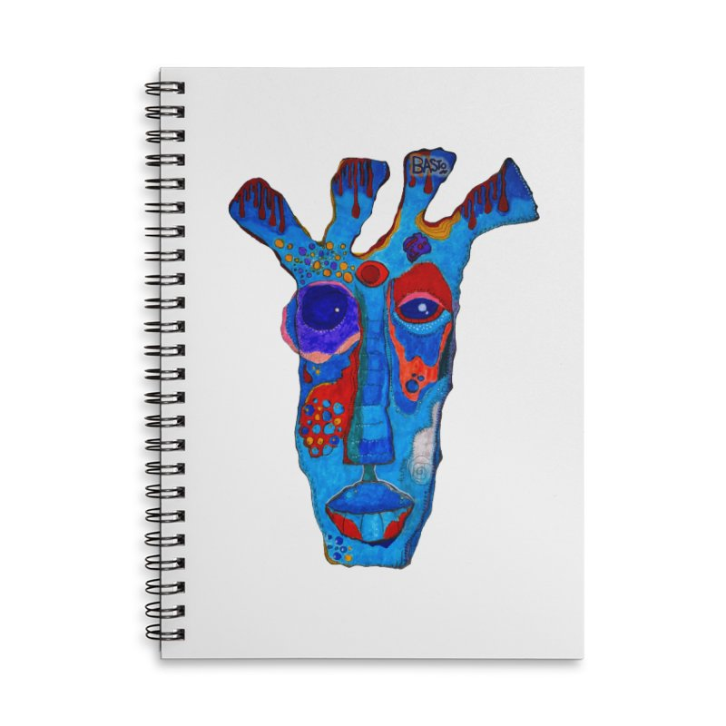 Shamanic Blues Accessories Lined Spiral Notebook by Baston's T-Shirt Emporium!