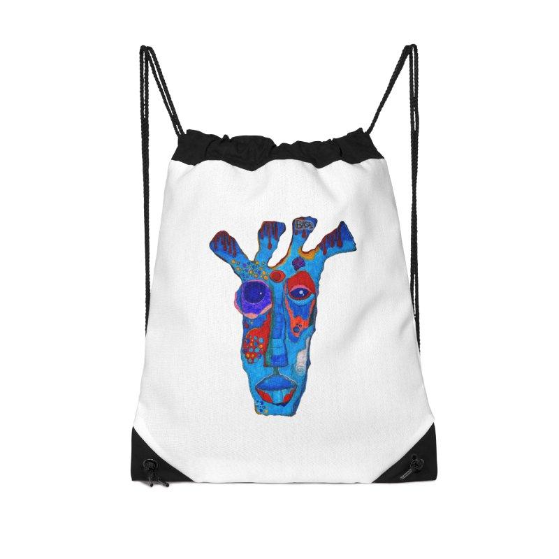 Shamanic Blues Accessories Drawstring Bag Bag by Baston's T-Shirt Emporium!