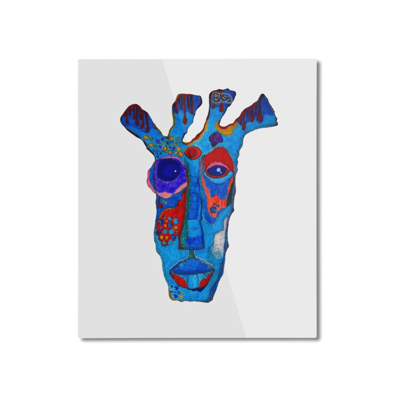 Shamanic Blues Home Mounted Aluminum Print by Baston's T-Shirt Emporium!
