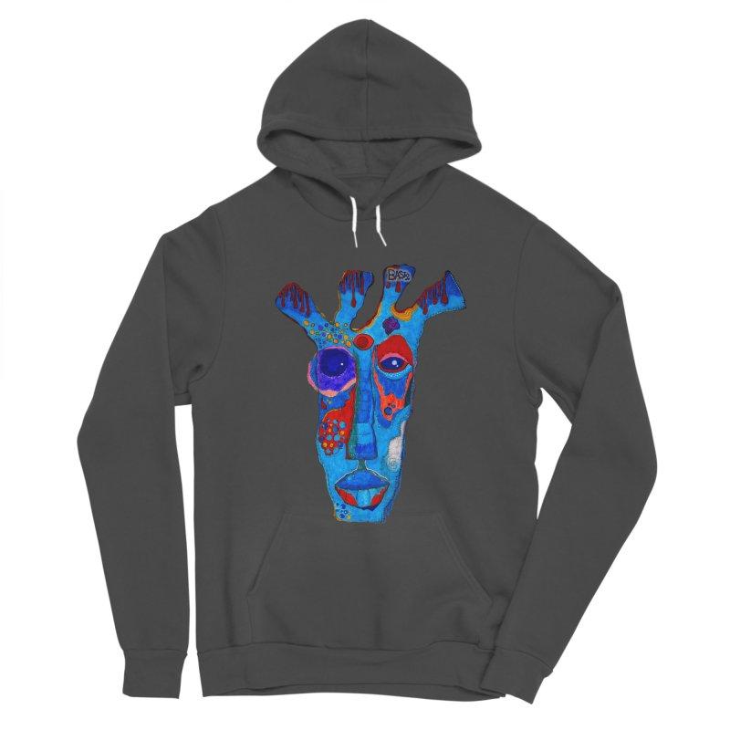 Shamanic Blues Men's Sponge Fleece Pullover Hoody by Baston's T-Shirt Emporium!