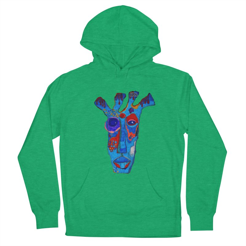 Shamanic Blues Women's French Terry Pullover Hoody by Baston's T-Shirt Emporium!