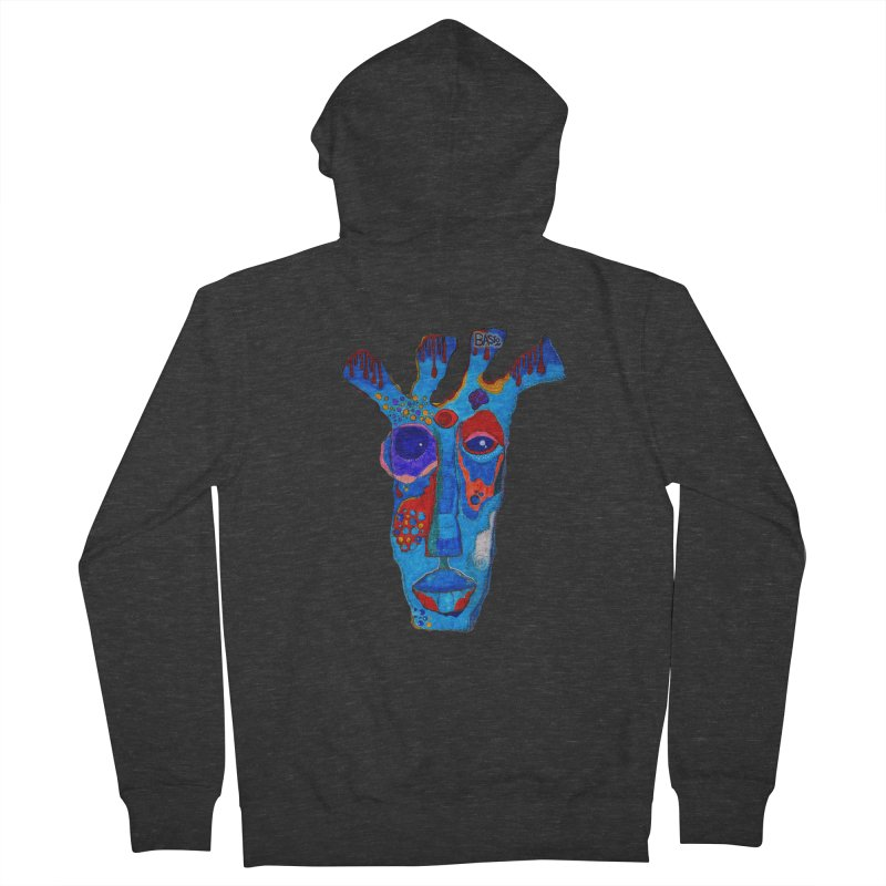 Shamanic Blues Women's French Terry Zip-Up Hoody by Baston's T-Shirt Emporium!