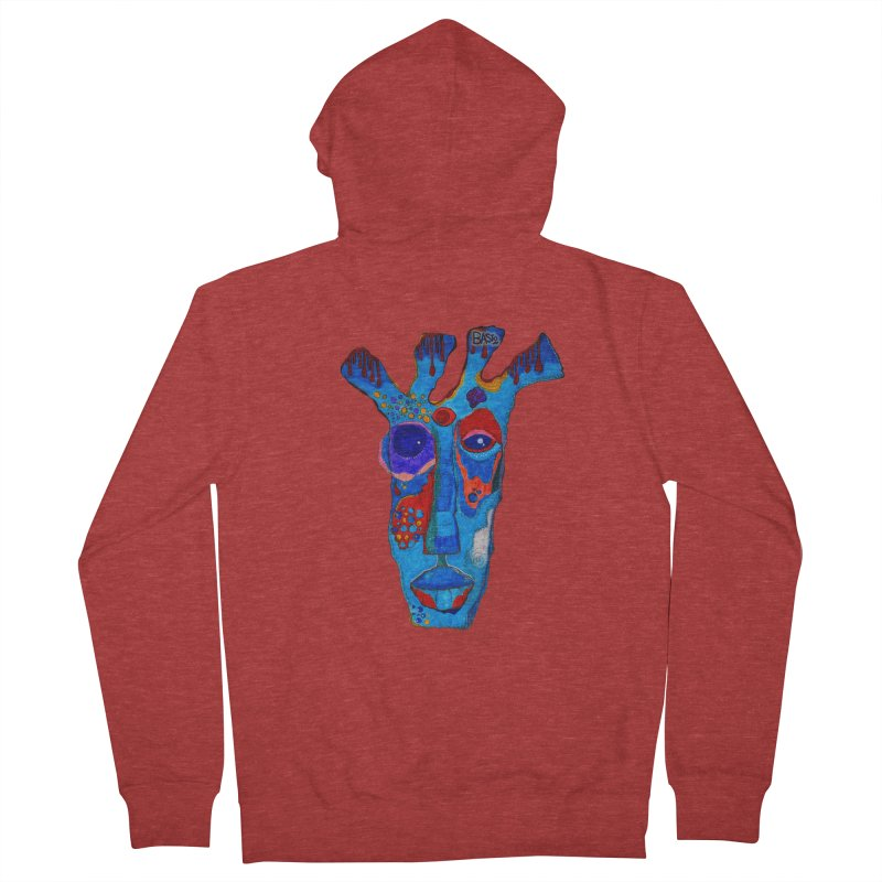 Shamanic Blues Men's French Terry Zip-Up Hoody by Baston's T-Shirt Emporium!