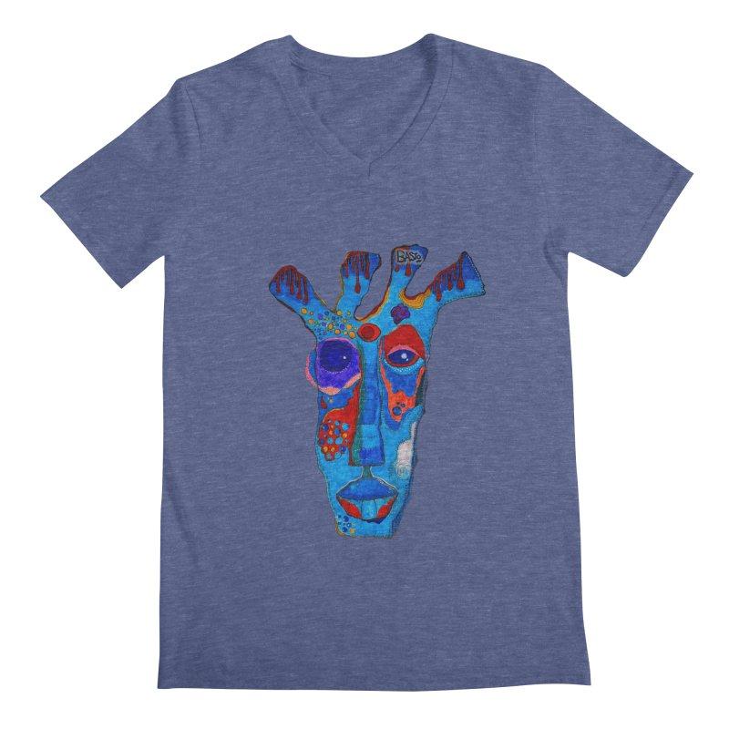 Shamanic Blues Men's V-Neck by Baston's T-Shirt Emporium!