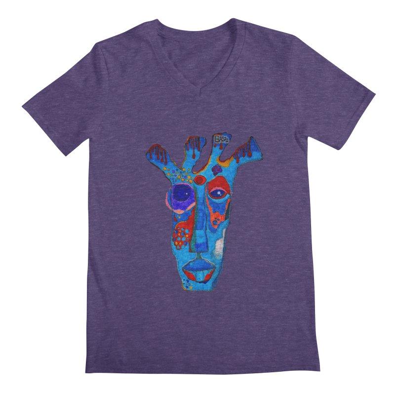 Shamanic Blues Men's Regular V-Neck by Baston's T-Shirt Emporium!