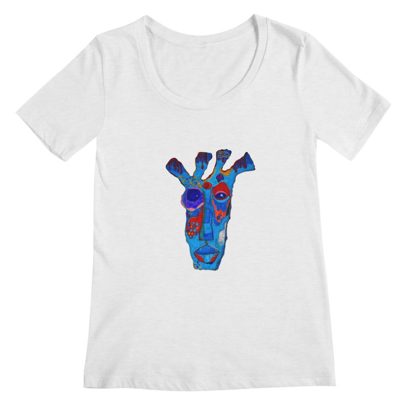 Shamanic Blues Women's Regular Scoop Neck by Baston's T-Shirt Emporium!