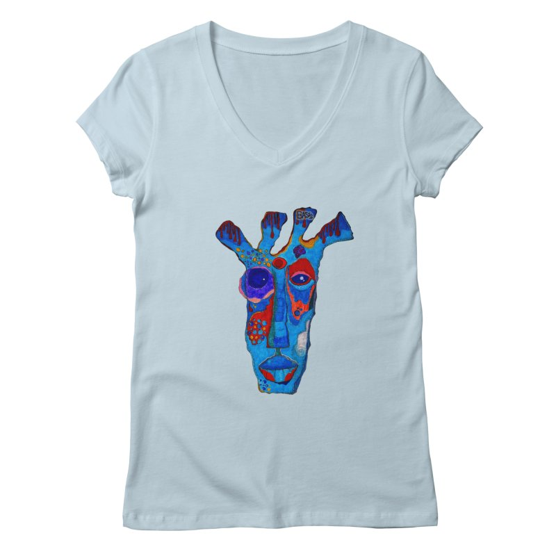 Shamanic Blues Women's Regular V-Neck by Baston's T-Shirt Emporium!