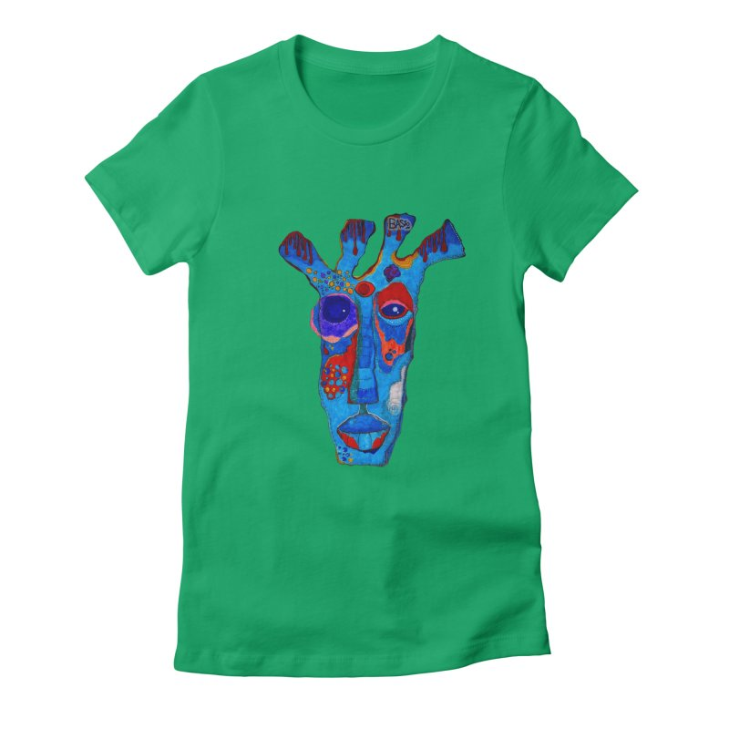 Shamanic Blues Women's Fitted T-Shirt by Baston's T-Shirt Emporium!