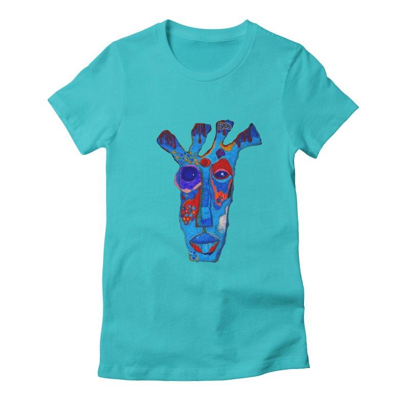 Shamanic Blues Women's Fitted T-Shirt by Baston's T-Shirt Emporium!