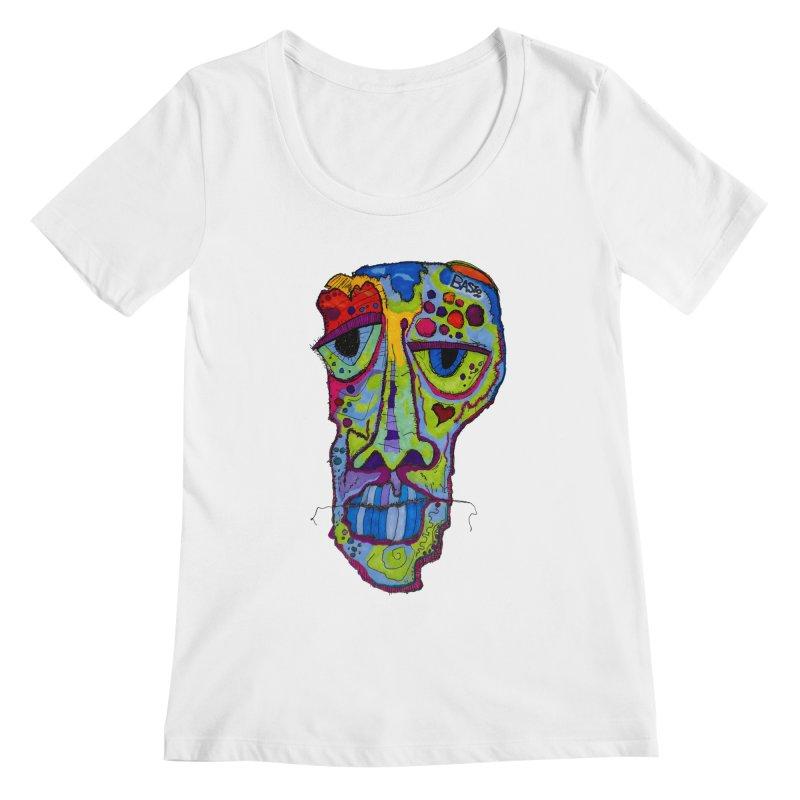 Reflection Women's Regular Scoop Neck by Baston's T-Shirt Emporium!