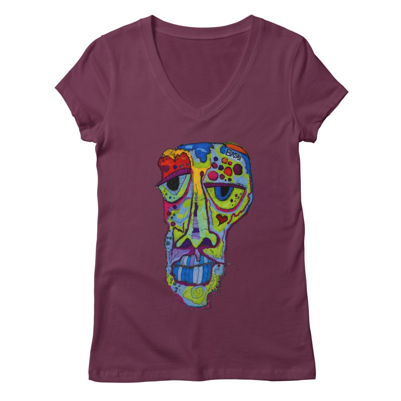 Reflection Women's Regular V-Neck by Baston's T-Shirt Emporium!