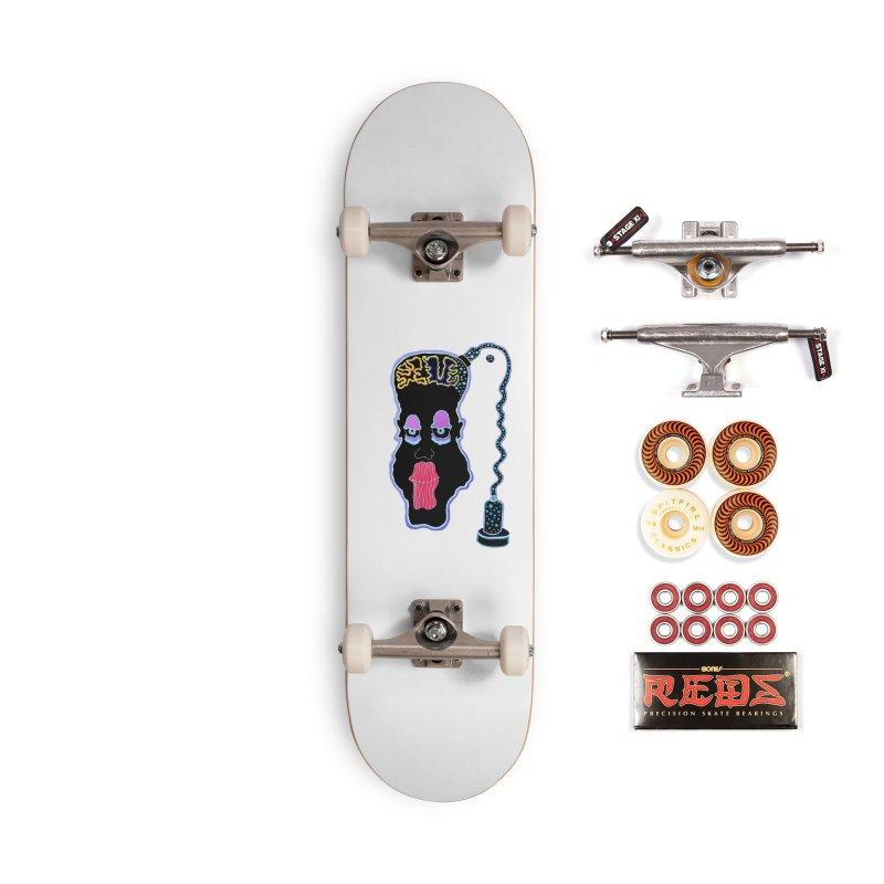 Plugged In Accessories Skateboard by Baston's T-Shirt Emporium!