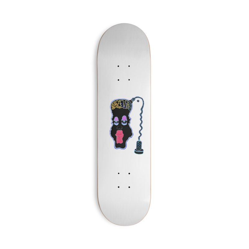 Plugged In Accessories Deck Only Skateboard by Baston's T-Shirt Emporium!
