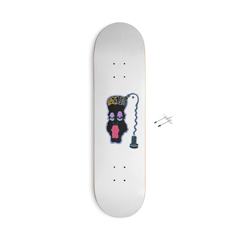 Plugged In Accessories With Hanging Hardware Skateboard by Baston's T-Shirt Emporium!
