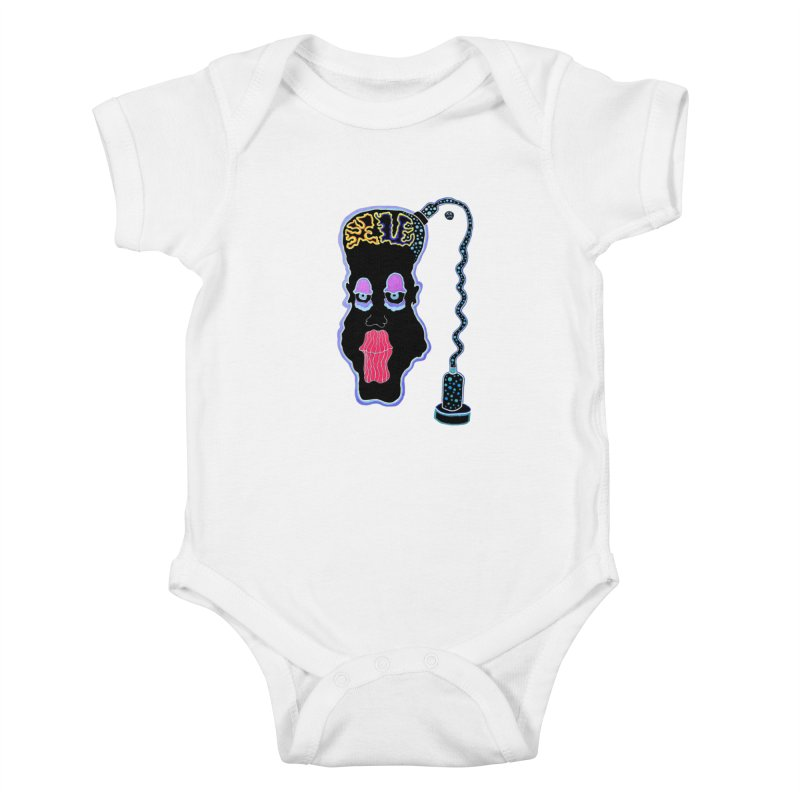 Plugged In Kids Baby Bodysuit by Baston's T-Shirt Emporium!
