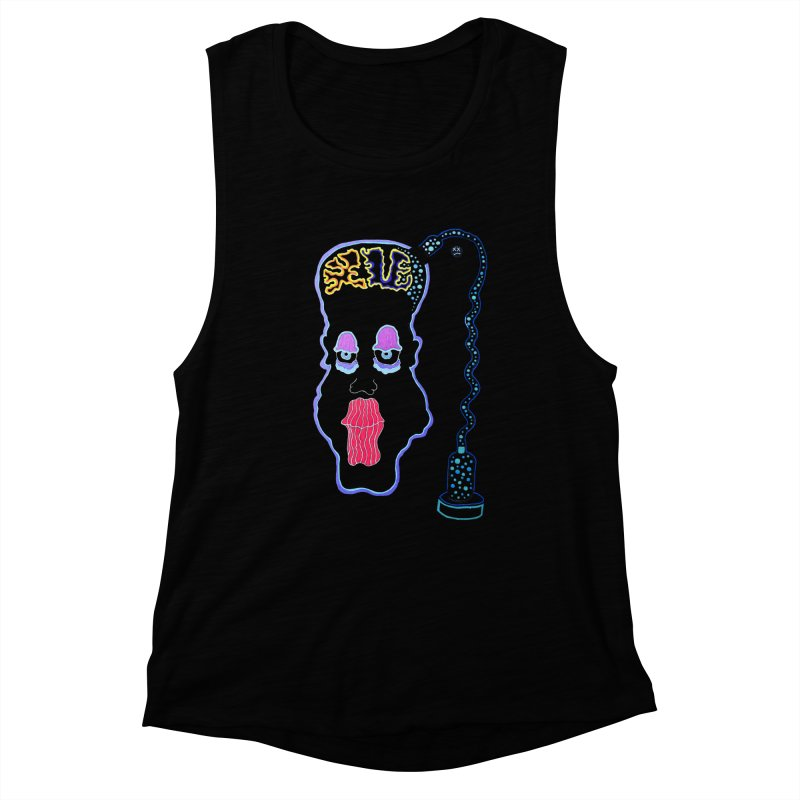 Plugged In Women's Muscle Tank by Baston's T-Shirt Emporium!