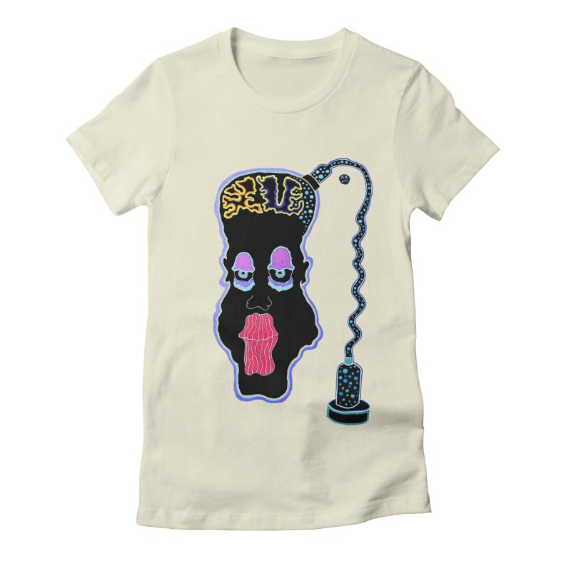 Plugged In Women's Fitted T-Shirt by Baston's T-Shirt Emporium!