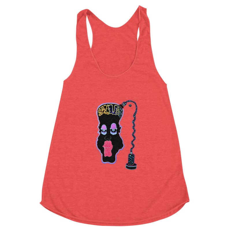 Plugged In Women's Racerback Triblend Tank by Baston's T-Shirt Emporium!