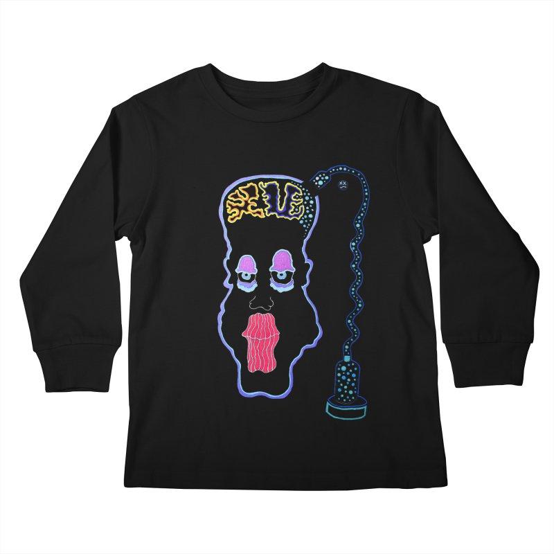 Plugged In Kids Longsleeve T-Shirt by Baston's T-Shirt Emporium!