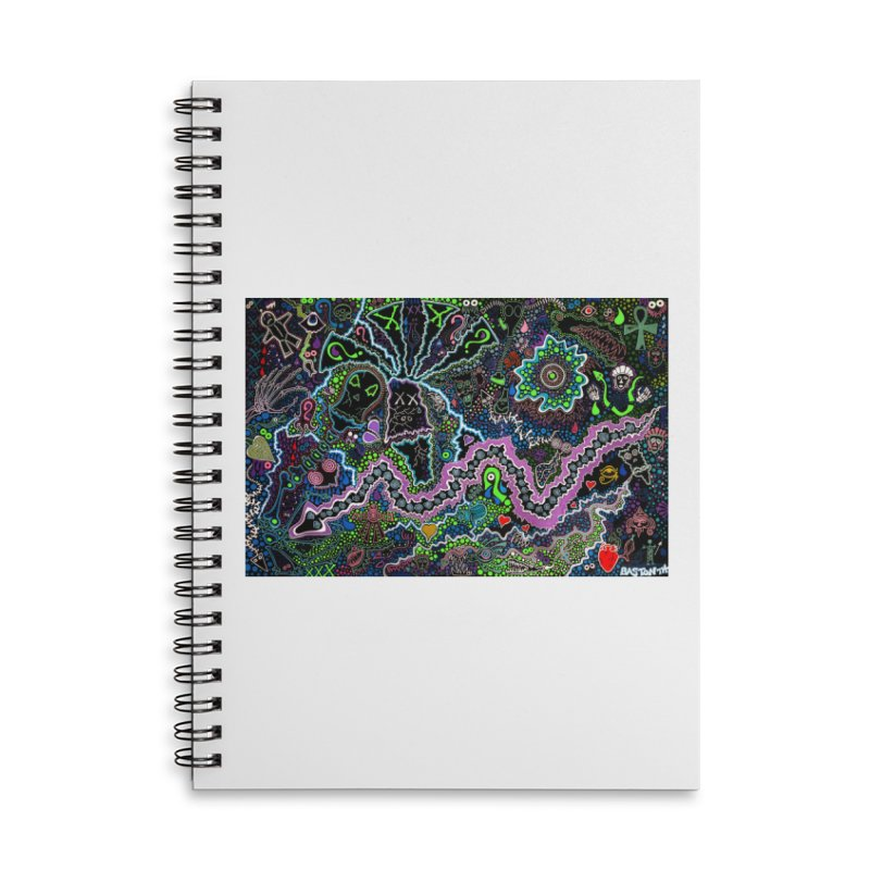 Shamanic Dream Accessories Lined Spiral Notebook by Baston's T-Shirt Emporium!