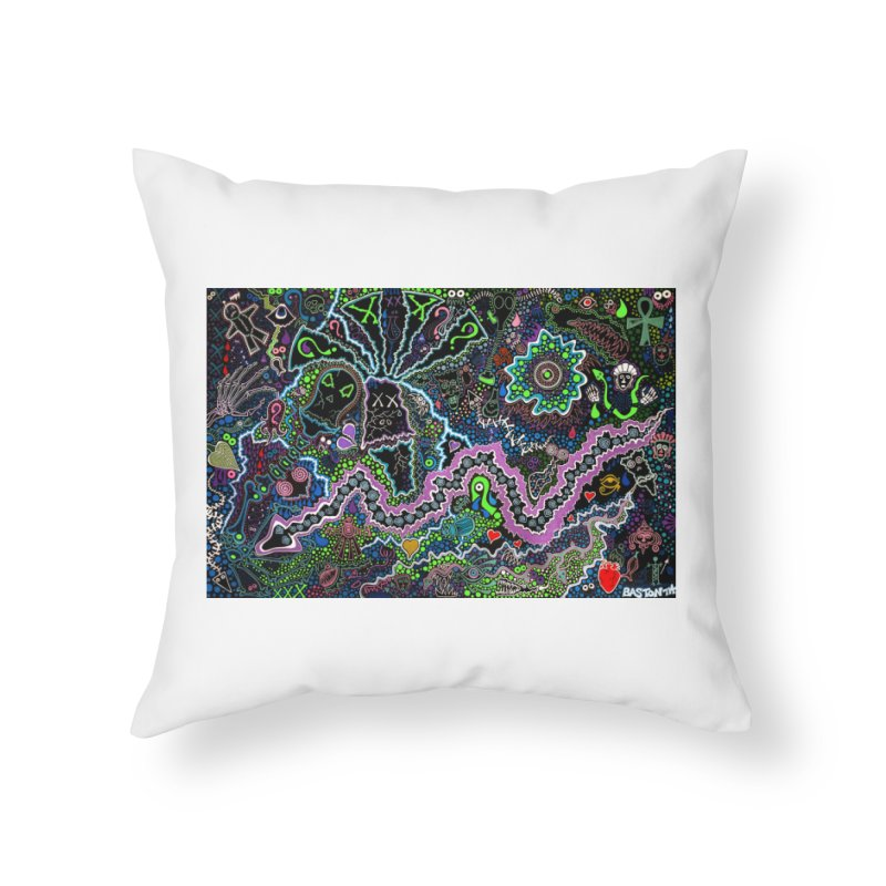 Shamanic Dream Home Throw Pillow by Baston's T-Shirt Emporium!