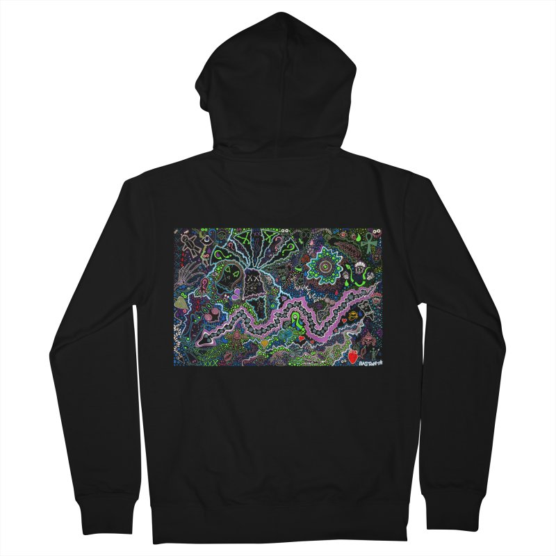 Shamanic Dream Men's French Terry Zip-Up Hoody by Baston's T-Shirt Emporium!
