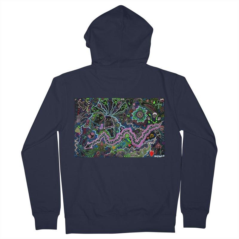 Shamanic Dream Men's French Terry Zip-Up Hoody by Baston's T-Shirt Emporium!