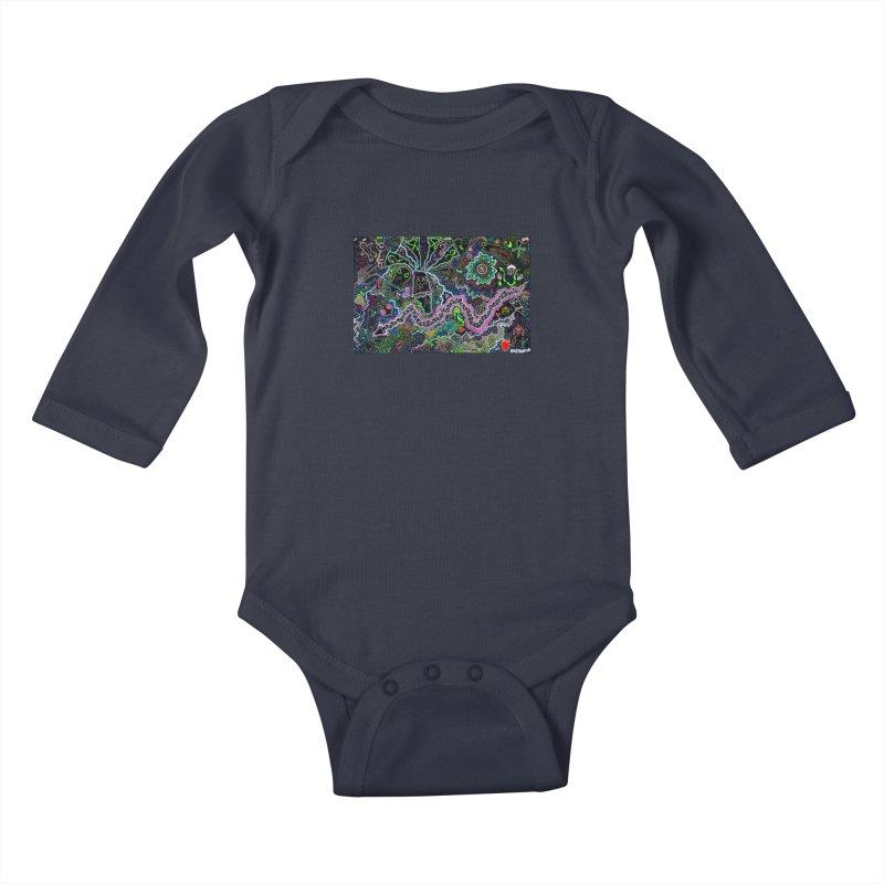 Shamanic Dream Kids Baby Longsleeve Bodysuit by Baston's T-Shirt Emporium!