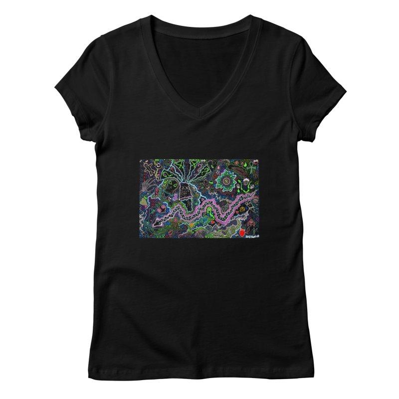 Shamanic Dream Women's V-Neck by Baston's T-Shirt Emporium!