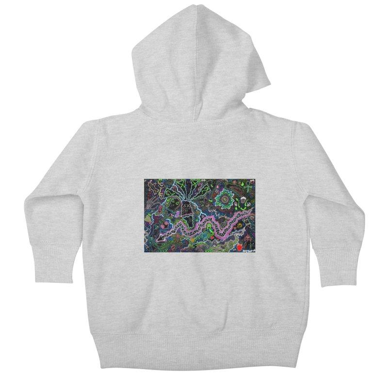 Shamanic Dream Kids Baby Zip-Up Hoody by Baston's T-Shirt Emporium!