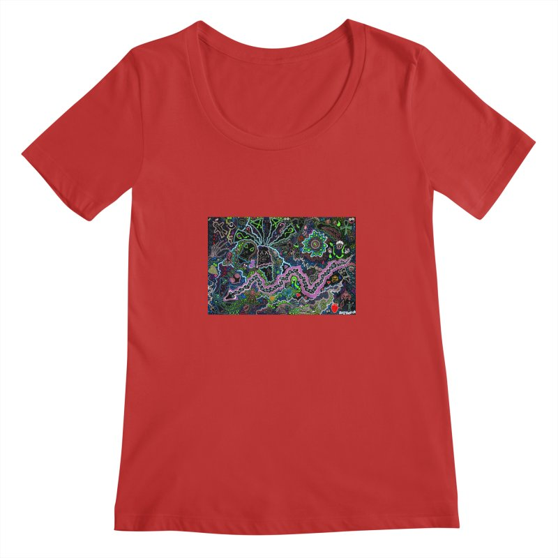 Shamanic Dream Women's Regular Scoop Neck by Baston's T-Shirt Emporium!